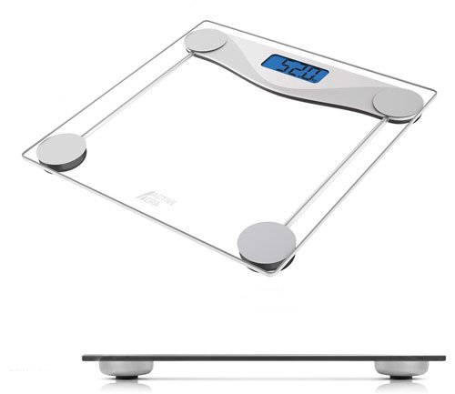 balance pèse personne électronique en verre transparent