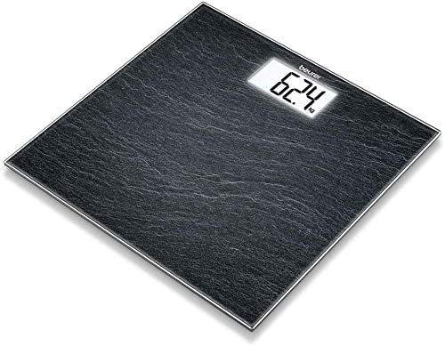 Pèse-personne design ardoise noir