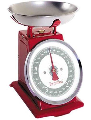 balance de cuisine vintage retro Terraillon Tradition 500 rouge